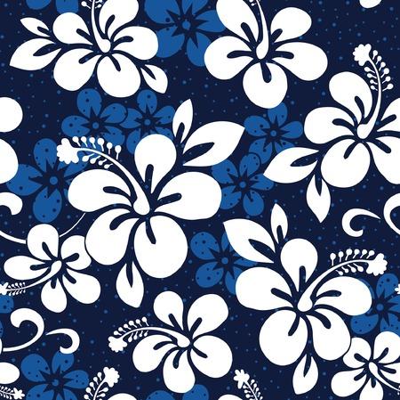 Summer Hibiscus Wallpaper Stock Vector