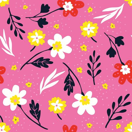 abstracted: Pink background flowers wallpaper