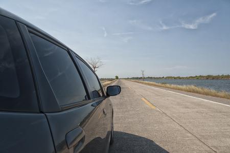 dream car: sueño, coche, carretera, ir Foto de archivo