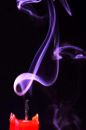 keywords backdrop: Abstract smoke isolated on black