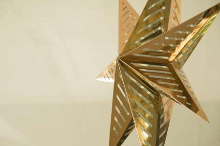 star background: Blur star ornaments on white background