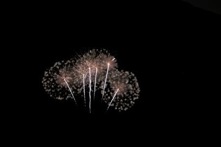amarillo y negro: set of fireworks isolated on black background