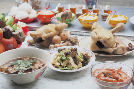 Tableware and not for the Chinese New Year 版權商用圖片