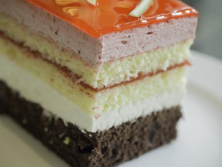 trifle: Image layers of cake strawberry trifle Stock Photo