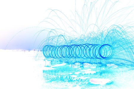 threaded: The blue lights are threaded illustration