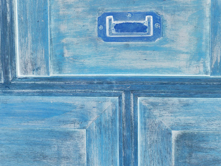 old furniture: Electric Blue paint old furniture