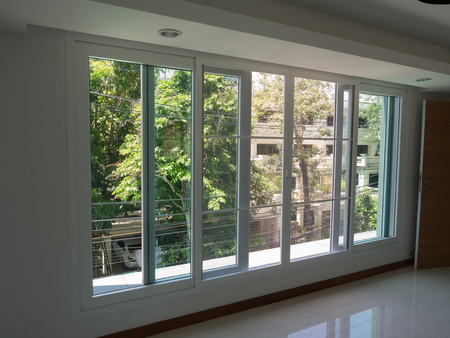 Decorative glass, aluminum, modern interior