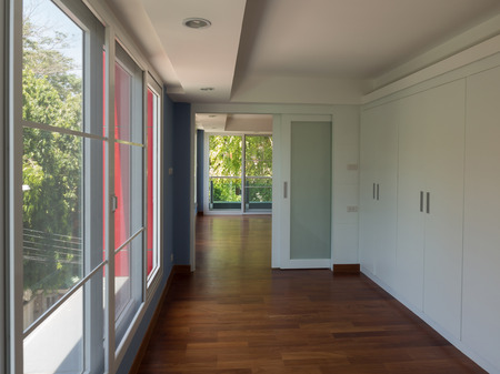 aluminum: Decorative glass and aluminum. Modern furniture Editorial
