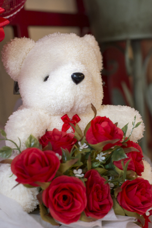 ou: Bear with a red rose (the bear doesn´t have copyright ou trademark)
