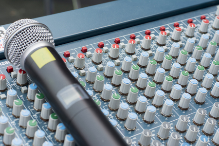 decibels: Appliances sound old studio and mixing Stock Photo