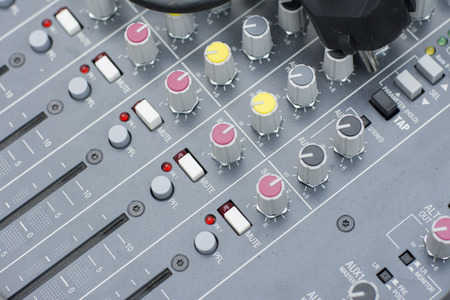 the mixing: Audio Mixing Board Sliders
