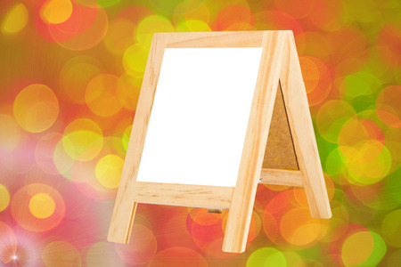 copy writing: Plank background text on a bright background bokeh background for display or editing products. Stock Photo