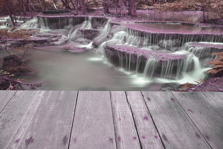 cataract falls: Page plank on a pink background waterfall. Stock Photo