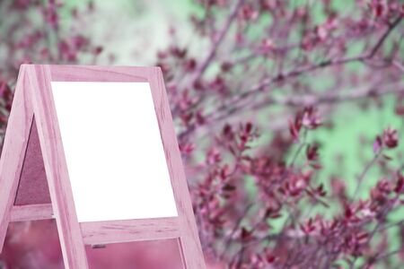 copy writing: Message boards on a white background scenes, trees, nature, abstract, blurry background
