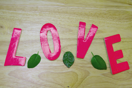 nameplate: Nameplate word love on an abstract background