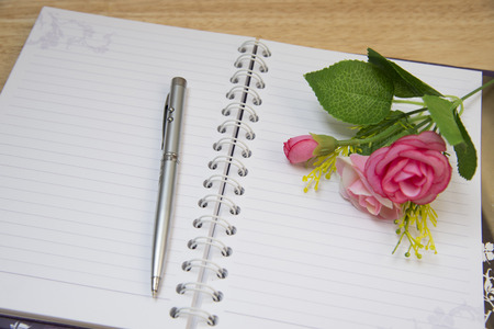 mentioned: Pen Note flowers with blurred background abstract