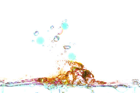 motion blur: Water isolated on white background motion blur.