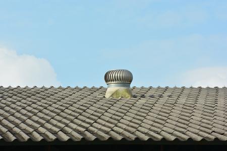 排気換気システム。 写真素材