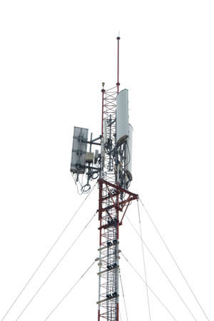 telephone pole: Telephone pole with a white background Stock Photo