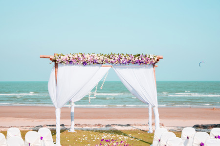 banquets: The beautiful outdoor banquets and beauty Stock Photo