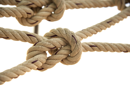 the rope knot Texture background Stock Photo