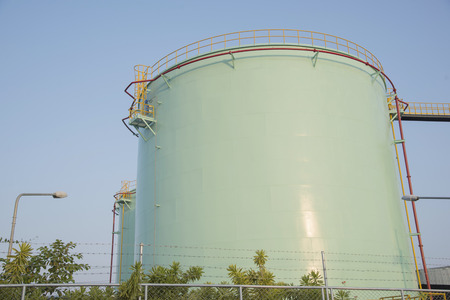 storage tanks: The fuel oil and chemical storage tanks