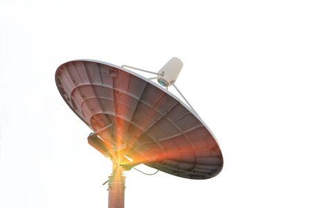 airwaves: White satellite on a white background.