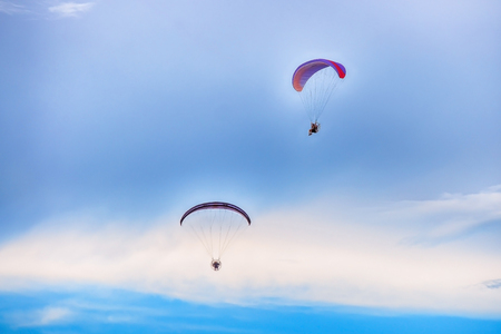 Travel with umbrellas fly the Paramotor, and love the atmosphere that surrounds