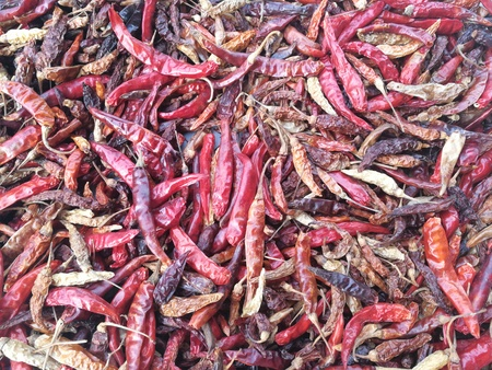 hottest: Dried chilies are ready to cook and ready to cook.
