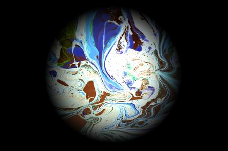 液体流れる配色のグラデーションの背景イラスト