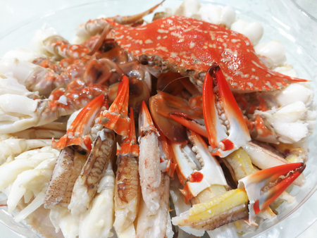 Sculling crab or steam crab leg - seafood Thai