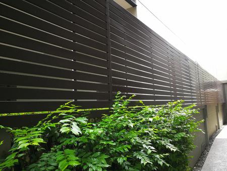 Wooden fence to be burglarproof in Abstract background Standard-Bild