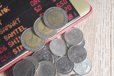 Trading Markets. Forex Currency Trading Concept with on a Mobile Phone