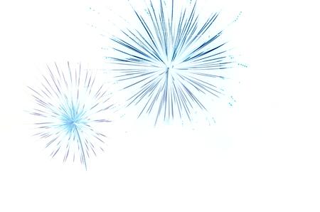 illustration set of fireworks isolated on black background