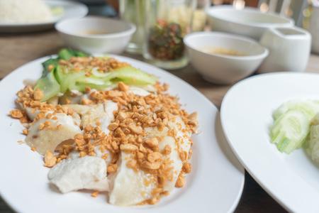 Hainanese chicken rice in food Thai