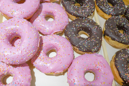 Donuts with different flavor and colours