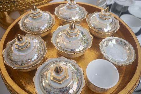Ceramic benjarong set for Thai food