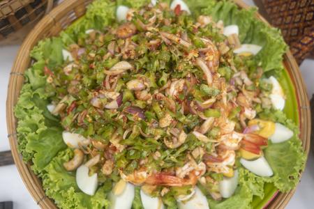 Thai food, Yum Tua Poo is a Spicy Shrimp