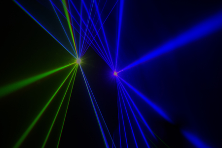 Colorful Laser effect over a plain black background Stock Photo - 117117860