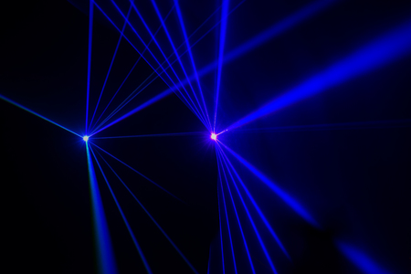 Colorful Laser effect over a plain black background Stock Photo - 117117862