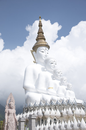 Wat Phra That Pha Son Kaew as background or wallpaper. Stock Photo - 117117886