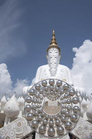 Wat Phra That Pha Son Kaew as background or wallpaper. Stock Photo - 117117889