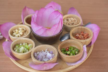 Miang Kham Bua Luang, healthy Thai food Stock Photo - 117117892