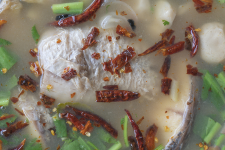 Served with Thai spicy fish soup