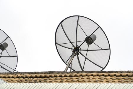 Satellite dish on a white background