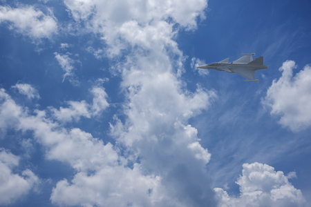 Plane Fighter jet the horizon as a background or wallpaper 写真素材 - 123925696