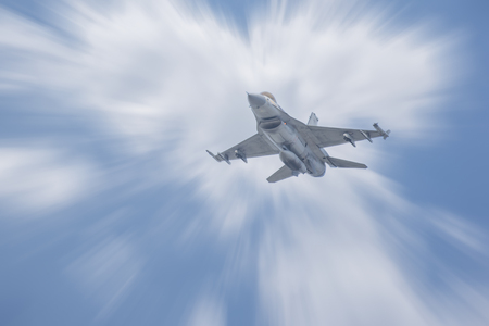 Plane Fighter jet the horizon as a background or wallpaper