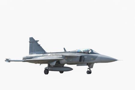 Aviones de combate del cielo sobre un fondo blanco.
