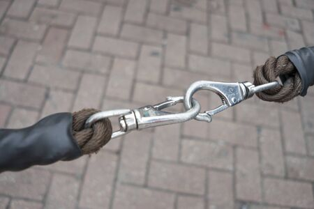 Chain lock for added security, extra security