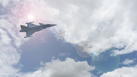 The fighter plane trained to fly in the sky of Thailand.